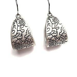 Brighton Sterling Silver Swirled Flower Earrings